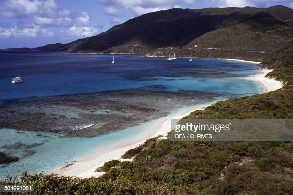 Beach and headland Virgin Gorda Island British Virgin Islands British Overseas Territory United Kingdom