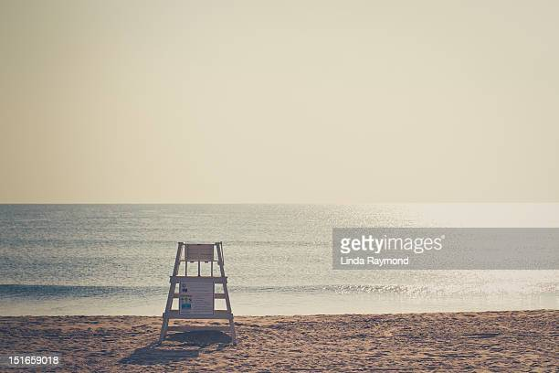 Beach and lifeguard chair