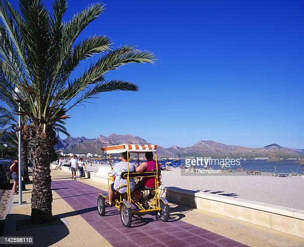 Beach and Promenade, Pollensa, Majorca, Balearics, Spain