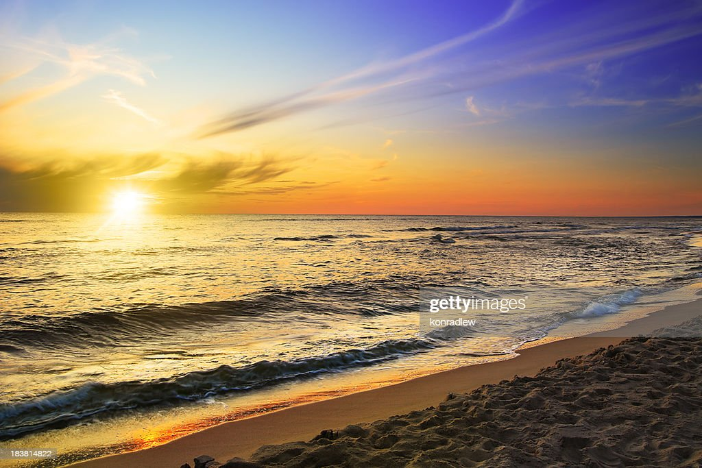 Beach and sea - sunset