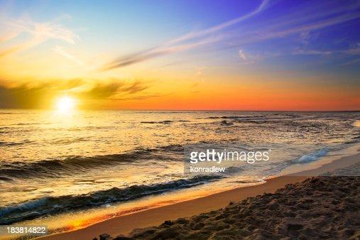 Beach and sea - sunset