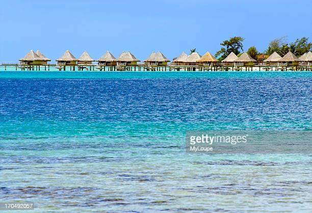 Beach at a lagoon on Bora Bora Island French Polynesia