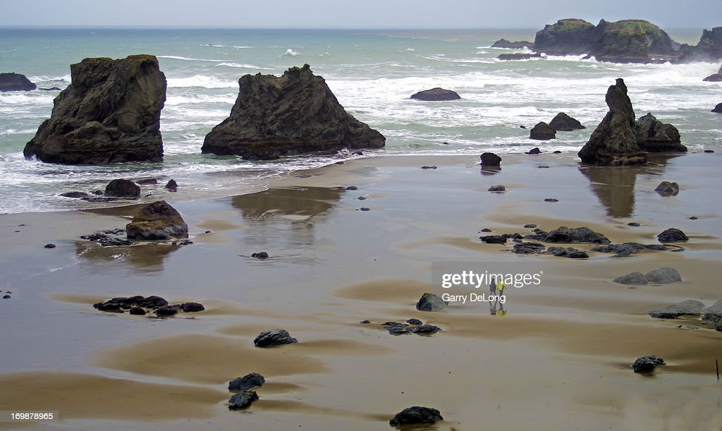 Beach at Bandon Oregon USA : Stock Photo