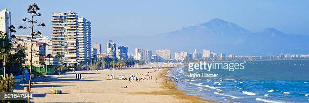 Beach at Benidorm on the Costa Blanca in Spain