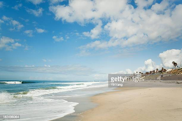 Beach at Carlsbad, San Diego, California—Coastline for Tourist Vacations