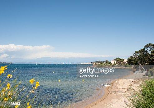 Beach at Golfe de St, Tropez