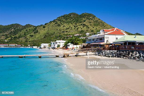 Beach at Grand-Case on the French side, St. Martin, Leeward Islands, West Indies, Caribbean, Central America