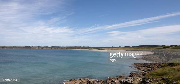 Beach at Kermorvan Peninsula, Finistere, Brittany, France