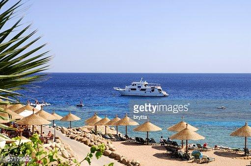 Beach at Red Sea,Naama Bay,Sharm El Sheikh,Egypt.