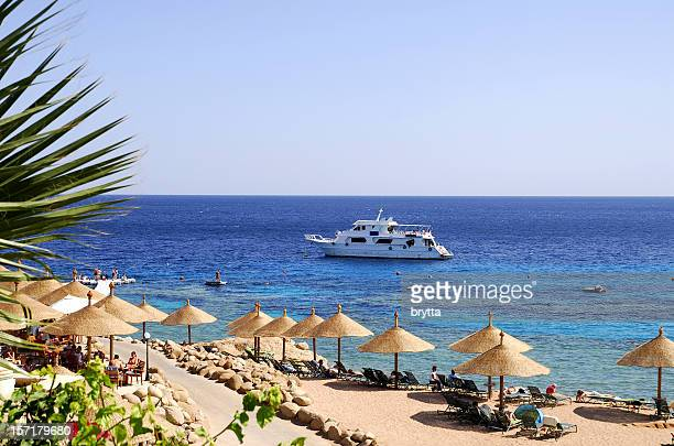 Beach at Red Sea,Naama Bay,Sharm El Sheikh,Egypt.