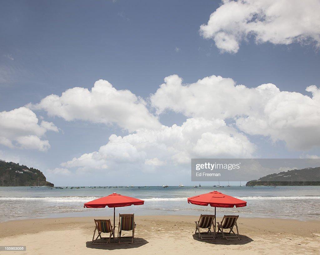 Beach at San Juan del Sur, Nicaragua : Stock Photo