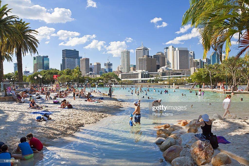 Beach at Southbank, Central Brisbane, Queensland
