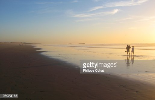 Beach at sunset, Agadir