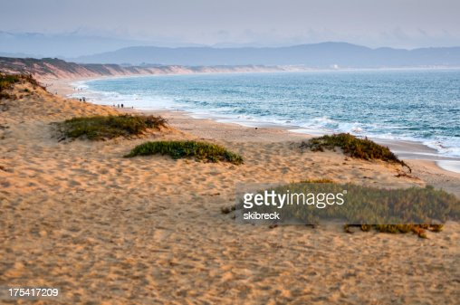 'Beach at Sunset on Monterey Bay, California'