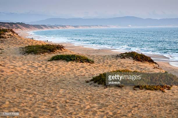 Beach at Sunset on Monterey Bay, California