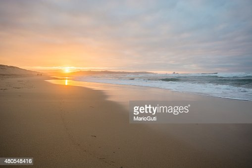 Beach at sunset : Stock Photo