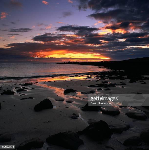 Beach at sunset, Wester Ross, Scotland