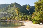 beach at tropical resort