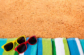 Beach background with sunglasses