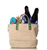 Beach bag and snorkeling set