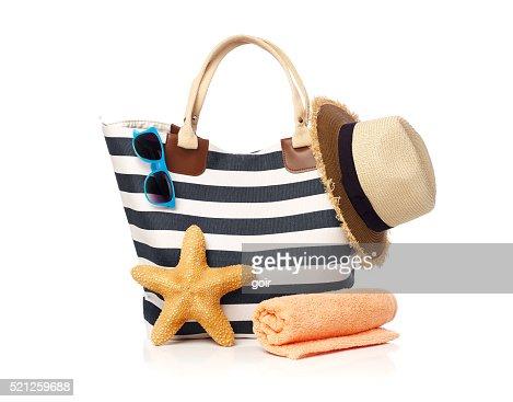 Strandtasche Konzept : Stock-Foto