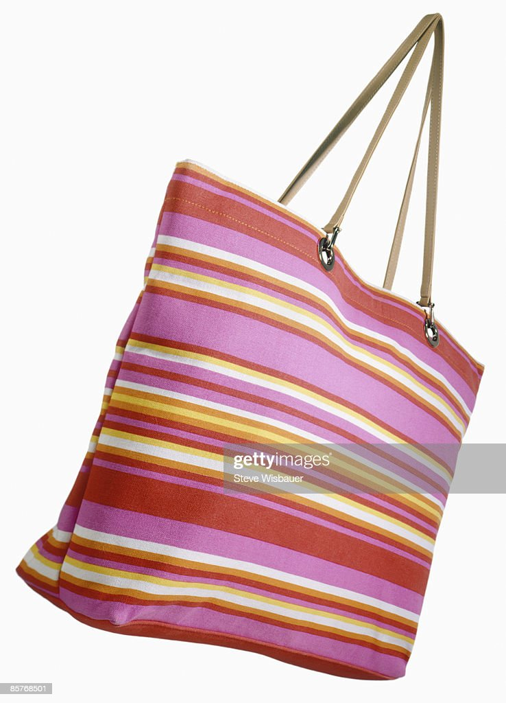 Beach bag Handbag in spring vibrant colors : Stock Photo