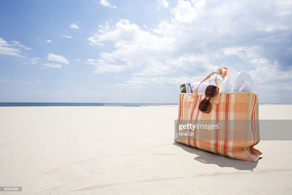 Beach bag  : Stock Photo