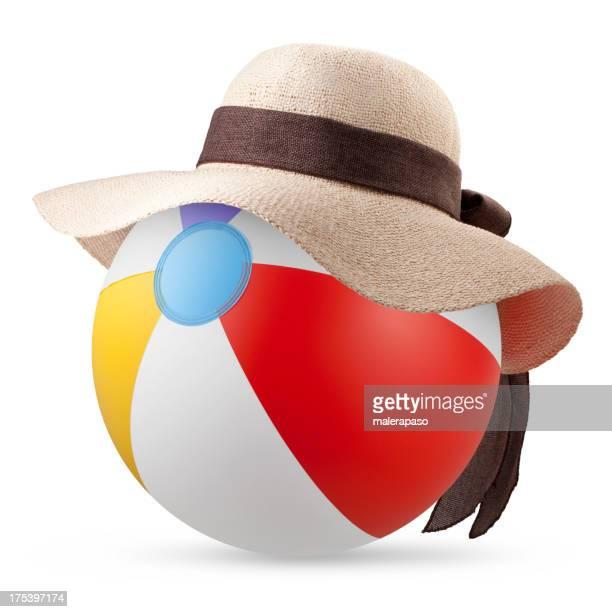 Beach bag with sun hat