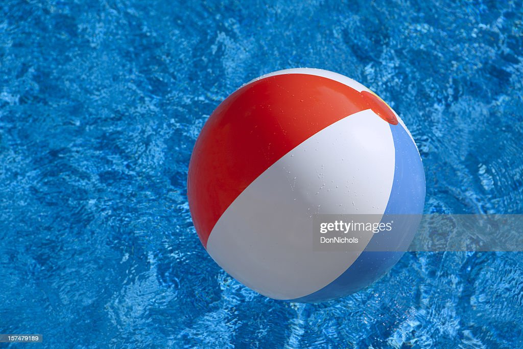Beach Ball In Water beach ball in water stock photo | getty images