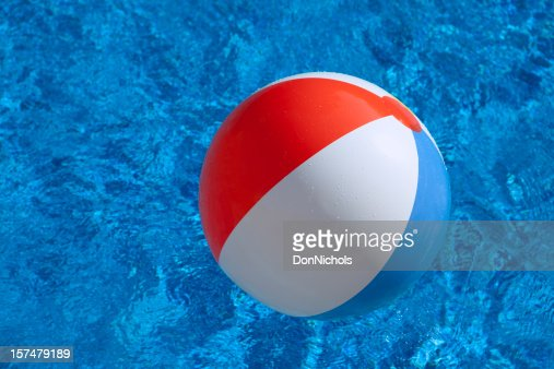 Pool Water With Beach Ball swimming pool summer vacation fun with floating beach ball sandals
