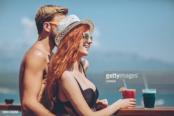 Beach bar chilling