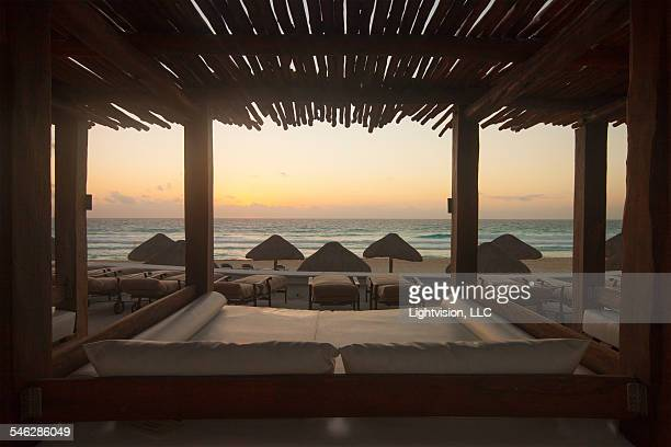 Beach Bed in Cancun Resort