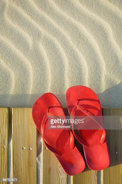 Beach Boardwalk and Red Shoes