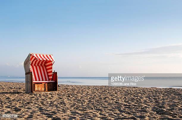 Beach chair at coast