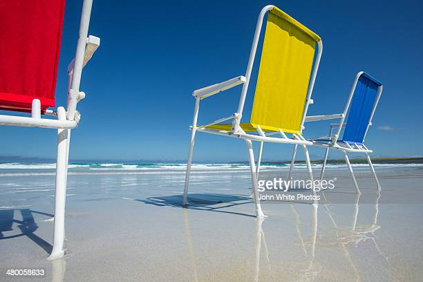 Beach chair at the seaside