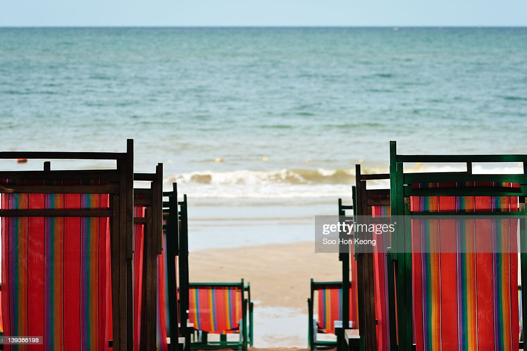 Beach chair : Stock Photo