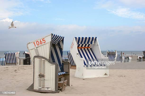 Beach chairs at beach