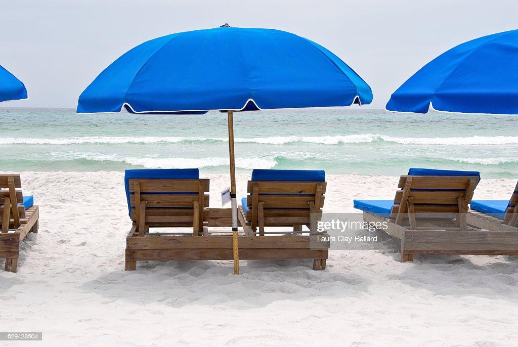 Beach Chairs On A Florida Beach : Stock Photo