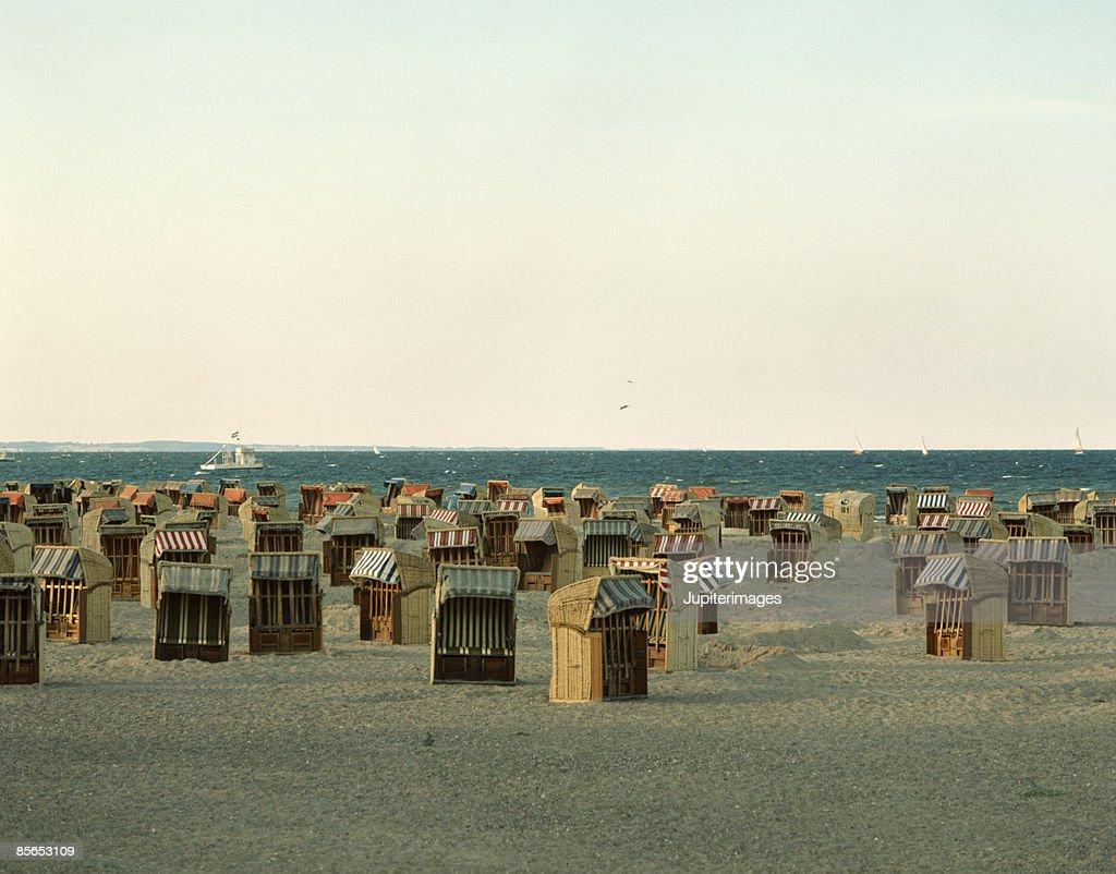 Beach chairs , Schleswig Holstein , Germany