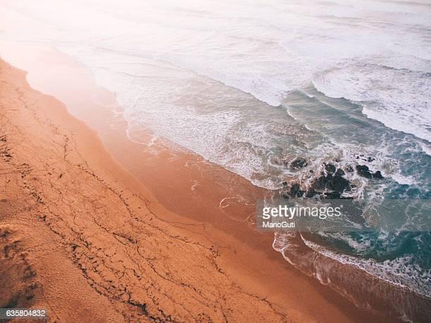 Beach detail at sunset