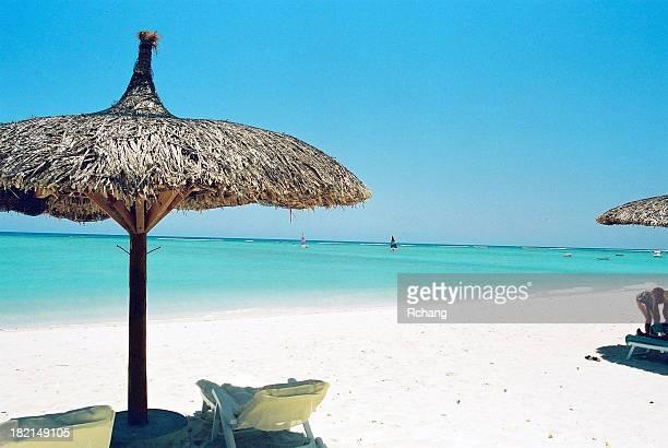 Der Strand mit Blick auf den Indischen Ozean