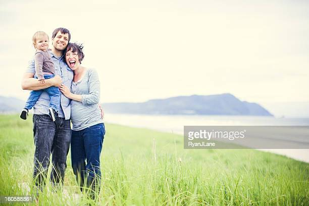 Beach Family and Grass