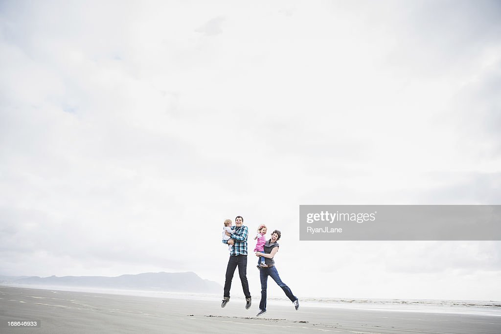 Beach Family Fun : Stock Photo