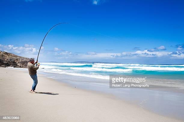 Beach fishing, South Australia