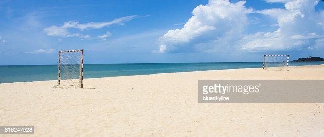 Fútbol playa : Foto de stock