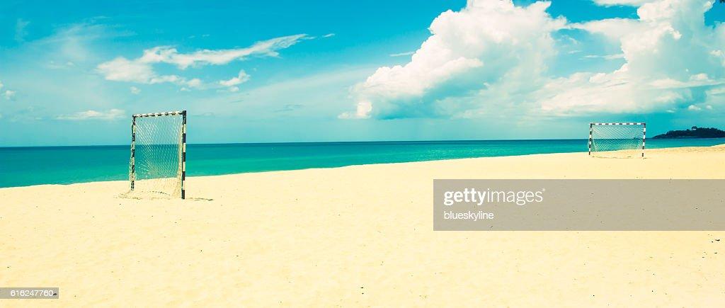 Beach football : Stock Photo