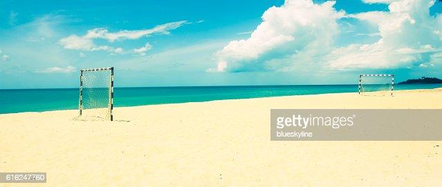 Calcio sulla spiaggia : Foto stock