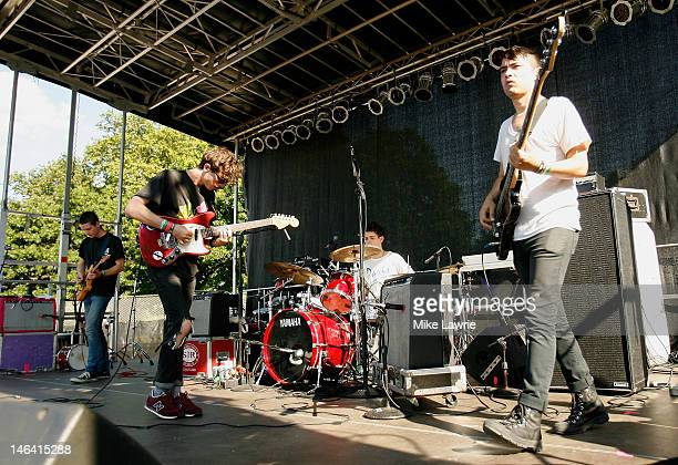 Beach Fossils perform during Northside Festival 2012 Day 2 on June 15 2012 in the Brooklyn burough of New York City