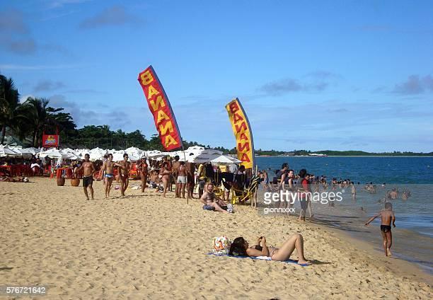 Beach fun in Porto seguro, Bahia, Brazil