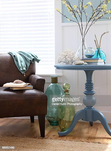 Beach house chair and table